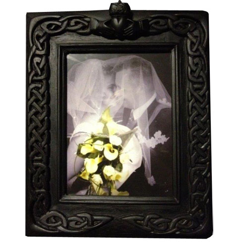 Celtic Wedding Frame crafted in Ireland from Irish turf